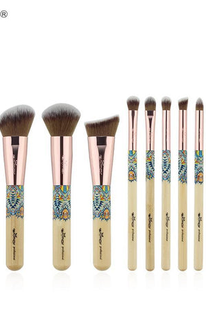 Anmor New 12PCS Make Up Brushes Bamboo Professional Makeup Brush Set Soft Synthetic Cosmetics Brush Kit - TGCboutique