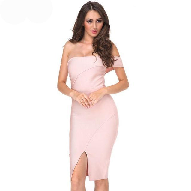 Bandage Off Shoulder Luxury Sexy Cocktail Dress - TGCboutique