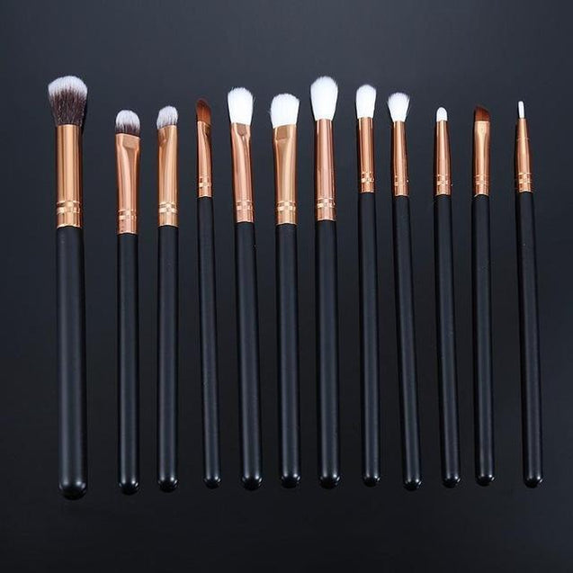 Learnever 12pcs Pro Makeup Brushes Set Foundation Powder Eyeshadow Eyeliner Lip Professional Cosmetic Beauty Makeup Tool M02468 - TGCboutique