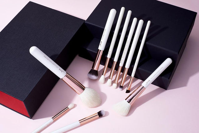 Girl On The Go Black Professional Makeup Brush Set - 10 Pack - TGCboutique
