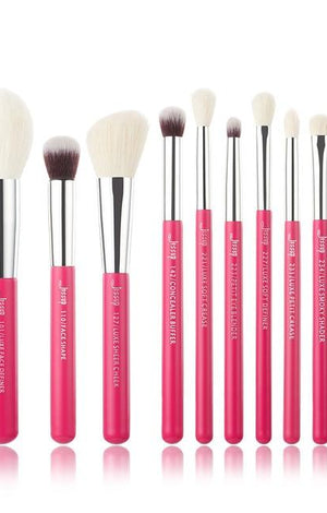 Girl On The Go Pink Professional Makeup Brush Set - 10 Pack - TGCboutique