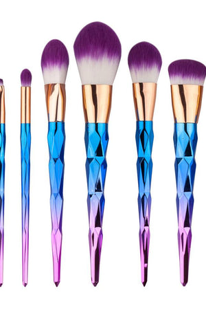 Rainbow Unicorn Pattern Makeup Brush Set - 7 pcs - TGCboutique