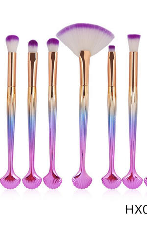 The Shell Makeup Brush Set - 10 Pcs - TGCboutique