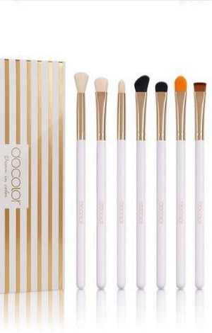 10 pc Pony Hair Cosmetic Eye Makeup Brush Set With Travel Box Kit - TGCboutique