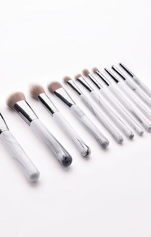 White Marble Professional Makeup Brush Set - 11 Pcs - TGCboutique