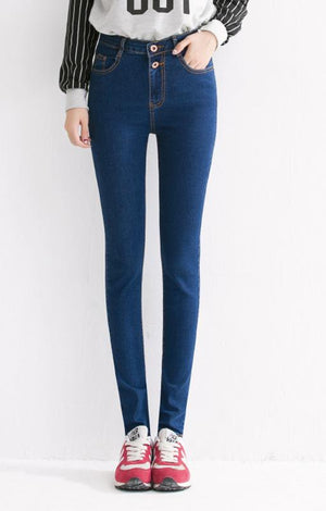 Plus Size High Waist Skinny Mom Jeans - TGCboutique