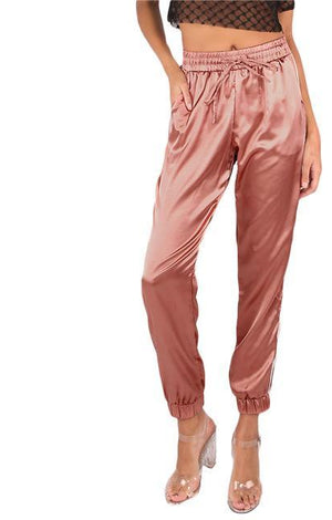 Relax In Style Satin Pants - TGCboutique