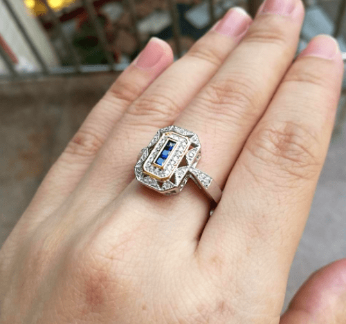 Sapphire Crush Sterling Silver Engagement Ring - TGCboutique