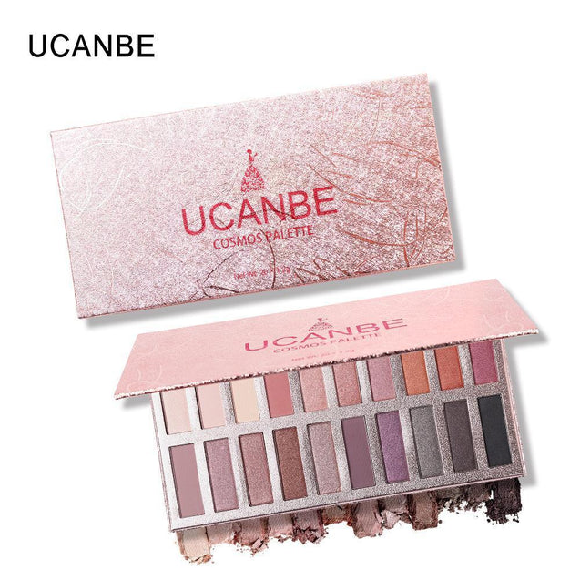 UCANBE Brand 20 Color Shimmer Matte Eye Shadow Makeup Palette Smokey Warm Pigmented Eyeshadow Powder Long Lasting Cosmetics Set - TGCboutique