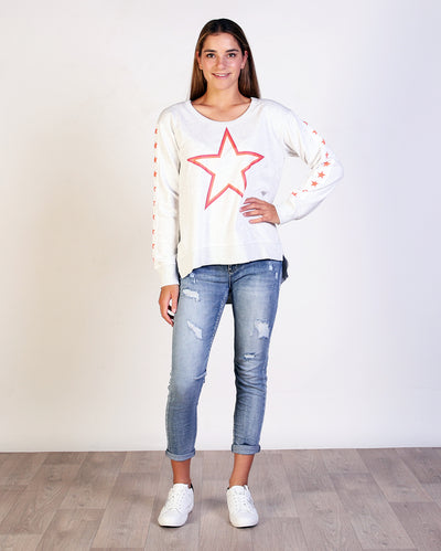 Star Panel Sweater