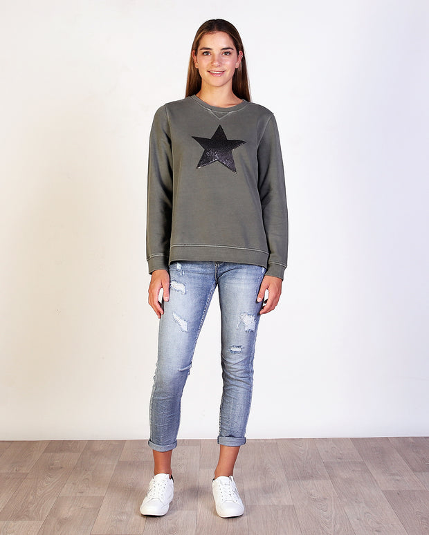 Star Sweat Top