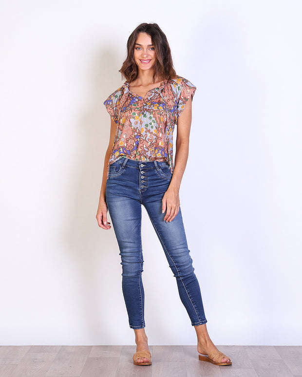 Floral Mecca Top
