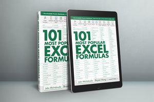 101 Most Popular Excel Formulas E-Book ($10 OFF)