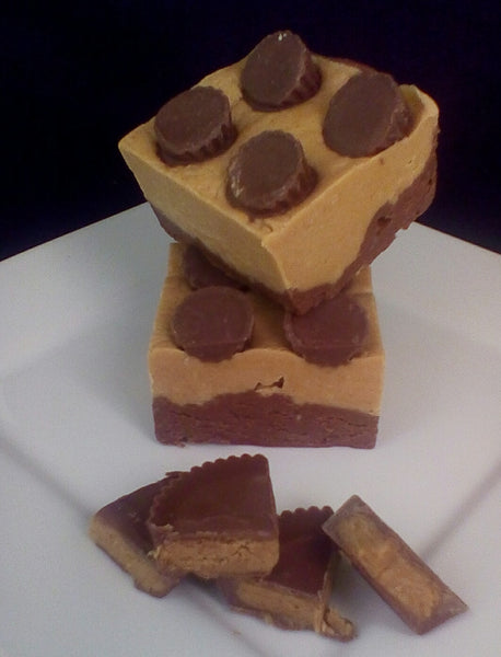 Chocolate Peanut Butter Cup Fudge