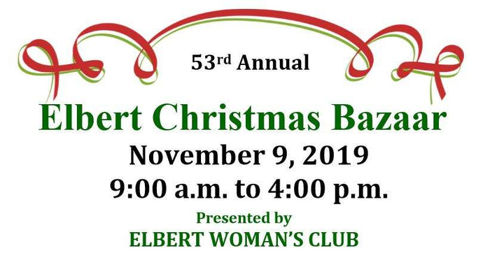 2019 Elbert Christmas Bazaar - November 9