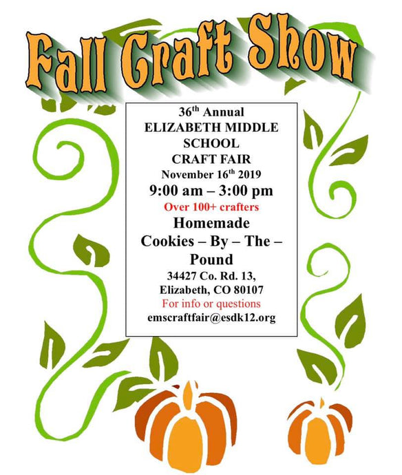 Elizabeth Middle School Craft Fair - November 16