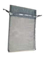 smoke blue organza gift bag