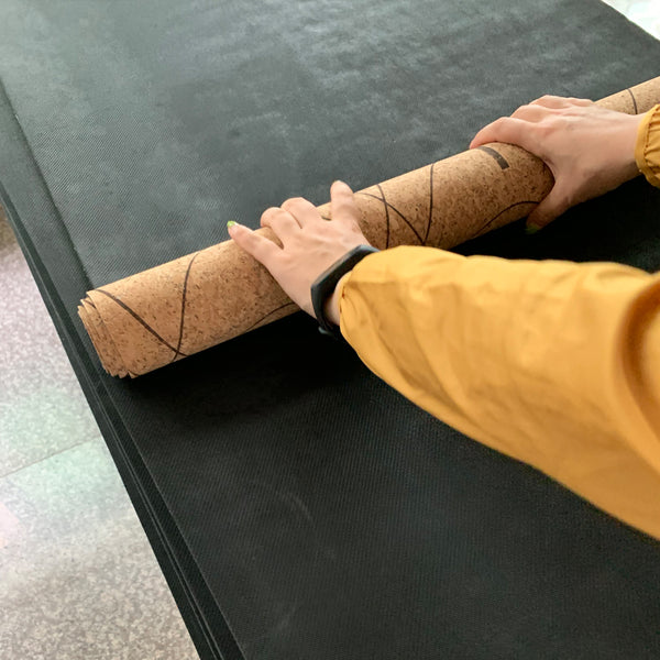 Roll my Bhumi Cork Yoga Mat