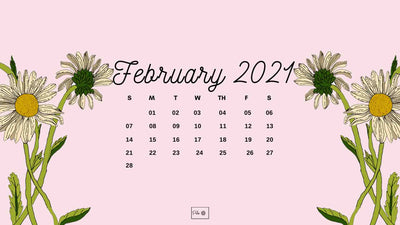 February 2021 Illustrated Desktop Wallpaper