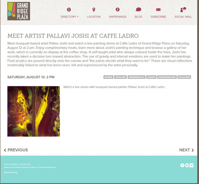 Caffe Ladro Showcasing Paintings By Pallavi Joshi