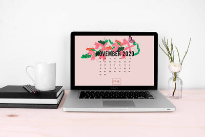 November 2020 Illustrated Desktop Wallpaper