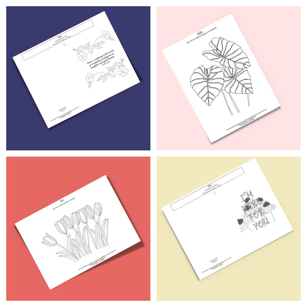 Free Coloring Cards And Coloring Pages Printables