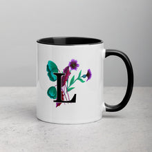 Load image into Gallery viewer, Letter L Floral Mug