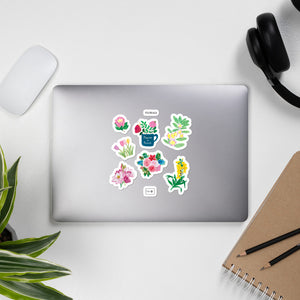 Floral Bubble-free stickers