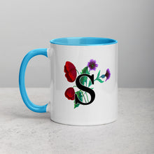 Load image into Gallery viewer, Letter S Floral Mug