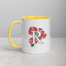 Load image into Gallery viewer, Letter R Floral Mug