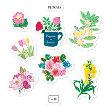 Load image into Gallery viewer, Floral Bubble-free stickers