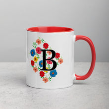 Load image into Gallery viewer, Letter B Floral Mug