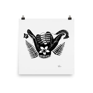 Shaka * Black & White - Art Print