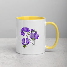Load image into Gallery viewer, Letter N Floral Mug