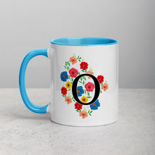Load image into Gallery viewer, Letter O Floral Mug