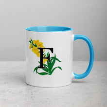 Load image into Gallery viewer, Letter F Floral Mug
