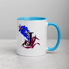 Load image into Gallery viewer, Letter J Floral Mug