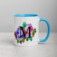 Load image into Gallery viewer, Letter M Floral Mug