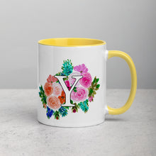 Load image into Gallery viewer, Letter Y Floral Mug