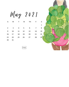 Free downloadable May 2021 Illustrated Wallpaper