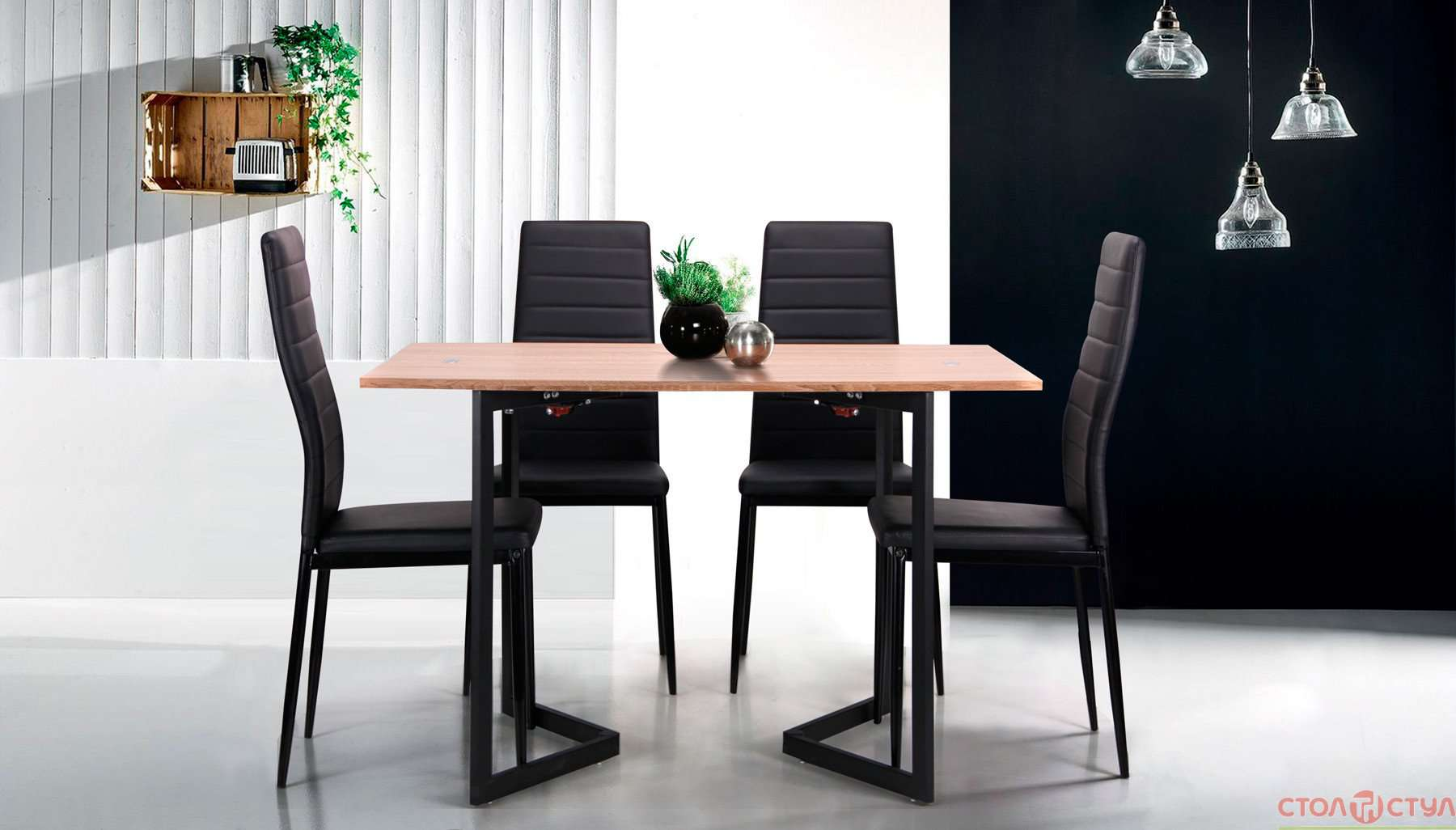Brilliant Folding Dining Table Ithaca Dt 62 Black Mdf Oak Sonoma Cc521252 Gamerscity Chair Design For Home Gamerscityorg