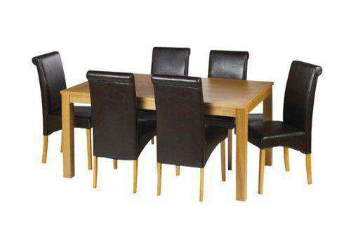 Awe Inspiring Oak Table With Leather Chairs Deal Furniture For Hotel Creativecarmelina Interior Chair Design Creativecarmelinacom