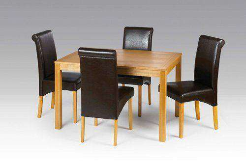 Swell Oak Table With Leather Chairs Deal Furniture For Hotel Creativecarmelina Interior Chair Design Creativecarmelinacom