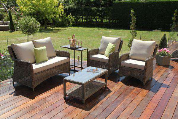 Terrific Maze Rattan Winchester Square High Back Sofa Set Caraccident5 Cool Chair Designs And Ideas Caraccident5Info