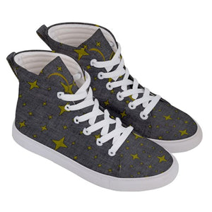 Officially Sexy 4 Pointed Star Women's Hi-Top Skate Sneakers