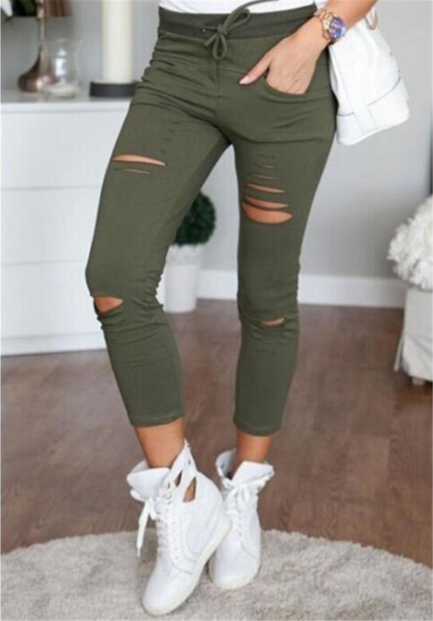 Women's Plus Size Cotton Sexy High Waist Elastic Pencil Leggings S - XXL