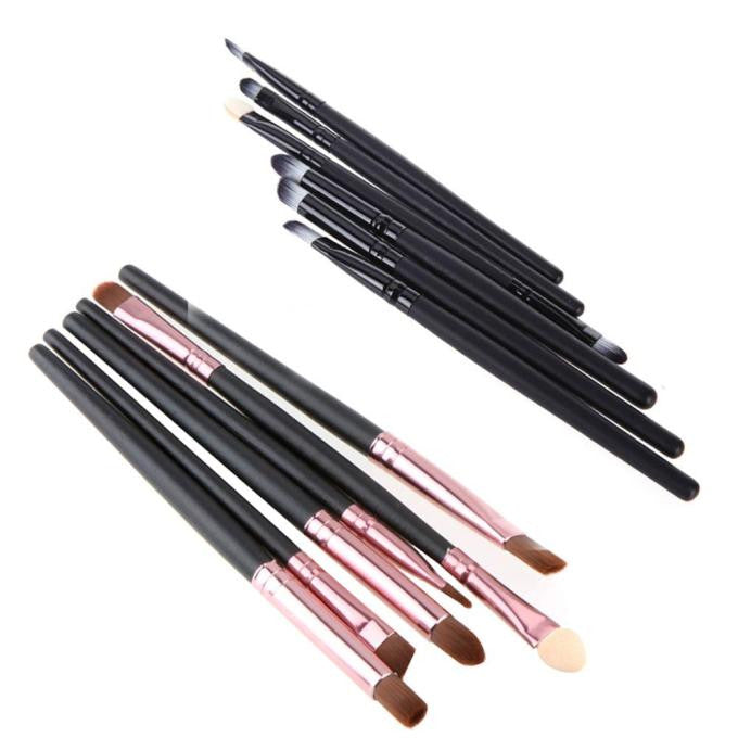 6PCS Cosmetic Makeup Brush Lip Brush Eyeshadow Brush