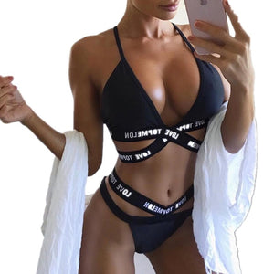 Sexy Woman's Bandage Triangle #Bikini Swimsuit Sizes S - XL