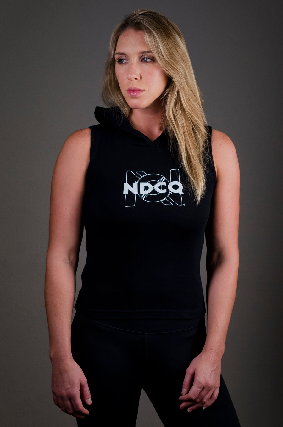 The Original Ambigram Ribbed Sleeveless Hoodie
