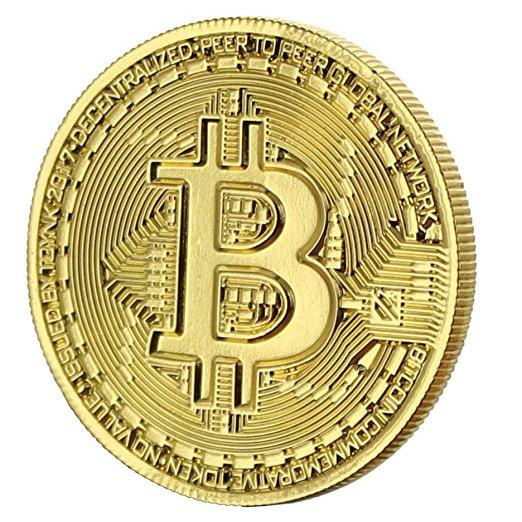 24kt Gold-Plated Commemorative Bitcoin Coin-Coindrobe